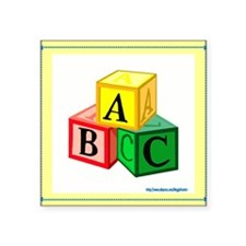 "abc_blocks.jpg Square Sticker 3"" x 3"""