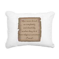 Pascal Quote Rectangular Canvas Pillow