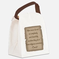 Pascal Quote Canvas Lunch Bag