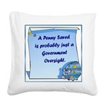 RoundPenny Saved.png Square Canvas Pillow
