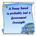 RoundPenny Saved.png Square Car Magnet 3