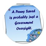 RoundPenny Saved.png Round Car Magnet