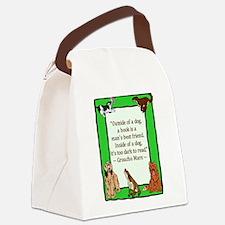 mans best friend.png Canvas Lunch Bag