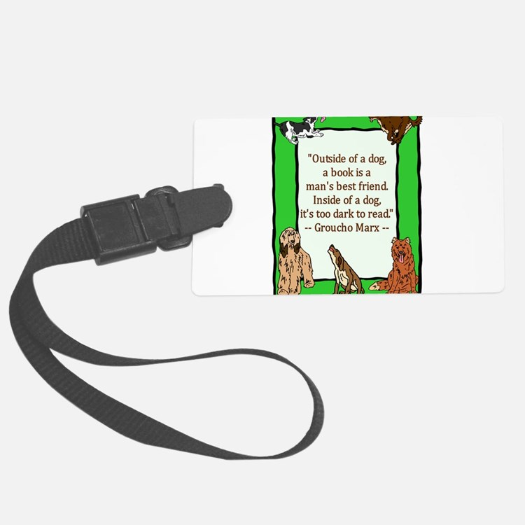 mans best friend.png Luggage Tag