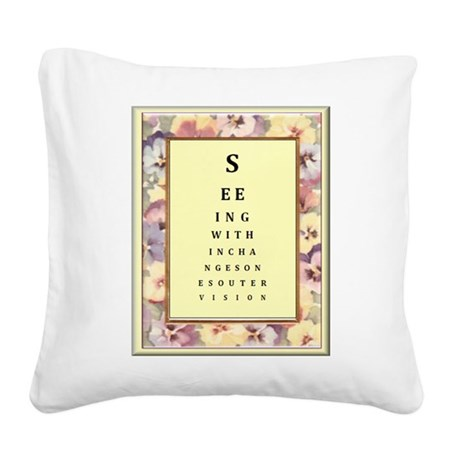 SeeingWithin.jpg Square Canvas Pillow