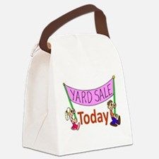 GarageSaleSign.png Canvas Lunch Bag