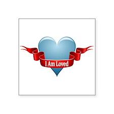 "valentine_heart_ribbon_blank.png Square Sticker 3"""