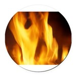 Fire.png Round Car Magnet