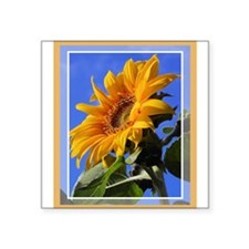 """sunflower1.png Square Sticker 3"""" x 3"""""""