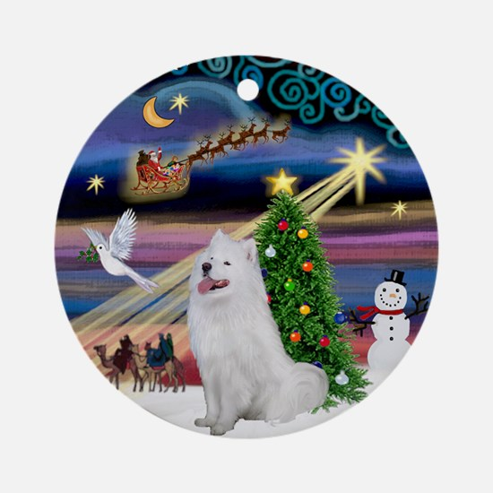Xmas Magic & Samoyed Ornament (Round)
