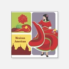 """mexican6.png Square Sticker 3"""" x 3"""""""