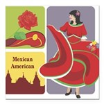mexican6.png Square Car Magnet 3
