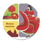 mexican6.png Round Car Magnet