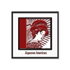 "JapaneseAmericans.png Square Sticker 3"" x 3"""