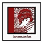 JapaneseAmericans.png Square Car Magnet 3