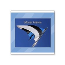 "Estonianflag.png Square Sticker 3"" x 3"""