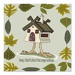 birdhouse.png Square Car Magnet 3