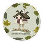 birdhouse.png Round Car Magnet