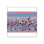 flamingoflock.JPG Square Sticker 3