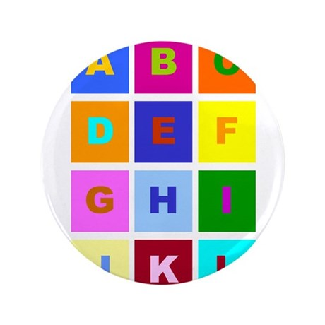 "Alphabet 3.5"" Button"