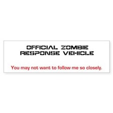 Zombie Sticker Bumper Sticker