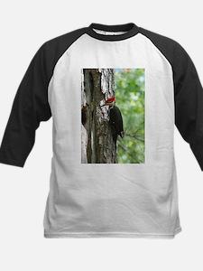 Pileated Woodpecker Kids Baseball Jersey