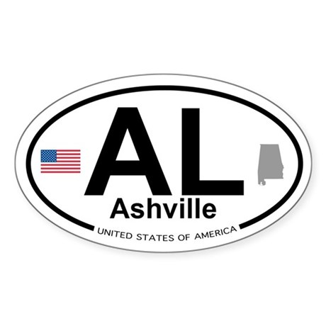 Ashville Sticker (Oval)