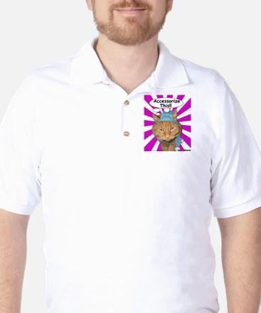 Hippy Kitty Accessorize This!! Golf Shirt