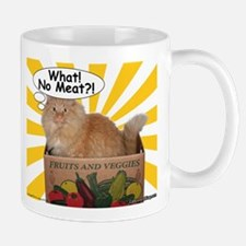 Hippy Kitty What! No Meat?! Mug