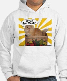 Hippy Kitty What! No Meat?! Hoodie