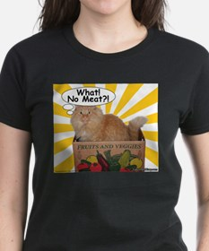 Hippy Kitty What! No Meat?! Tee