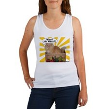 Hippy Kitty What! No Meat?! Women's Tank Top