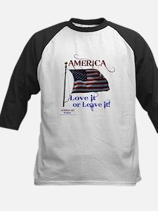 America Love It or Leave it Kids Baseball Jersey