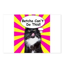 Hippy Kitty Betcha Cant Do This!! Postcards (Packa