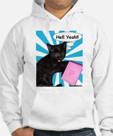 Hippy Kitty Hell Yeah!! Cats Rule Hoodie