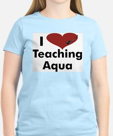 I_heart_teaching_aqua T-Shirt