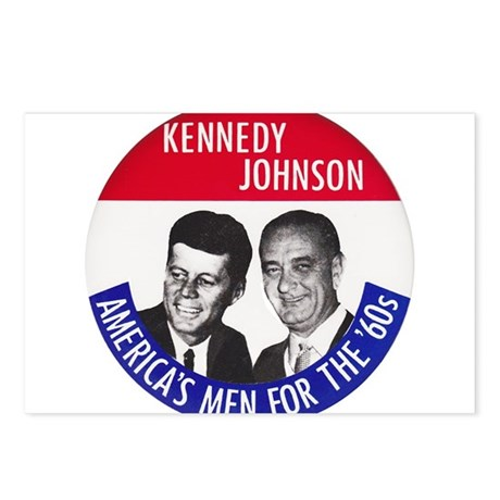 KENNEDY / JOHNSON Postcards (Package of 8)