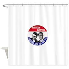 KENNEDY / JOHNSON Shower Curtain