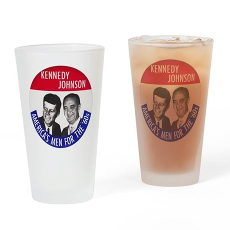 KENNEDY / JOHNSON Drinking Glass