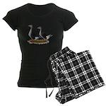 Tufted Toulouse Geese Women's Dark Pajamas