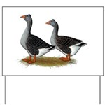 Tufted Toulouse Geese Yard Sign