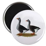 """Tufted Toulouse Geese 2.25"""" Magnet (10 pack)"""