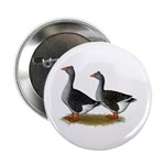 """Tufted Toulouse Geese 2.25"""" Button (100 pack)"""