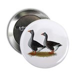 """Tufted Toulouse Geese 2.25"""" Button"""