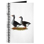 Tufted Toulouse Geese Journal