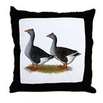 Tufted Toulouse Geese Throw Pillow