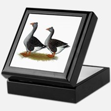 Tufted Toulouse Geese Keepsake Box