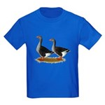 Tufted Toulouse Geese Kids Dark T-Shirt