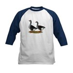 Tufted Toulouse Geese Kids Baseball Jersey