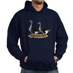 Tufted Toulouse Geese Hoodie (dark)